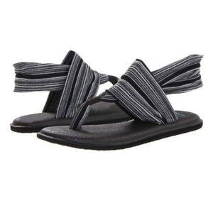 Gray Stripe Yoga Sling 2 Prints Sandal  7